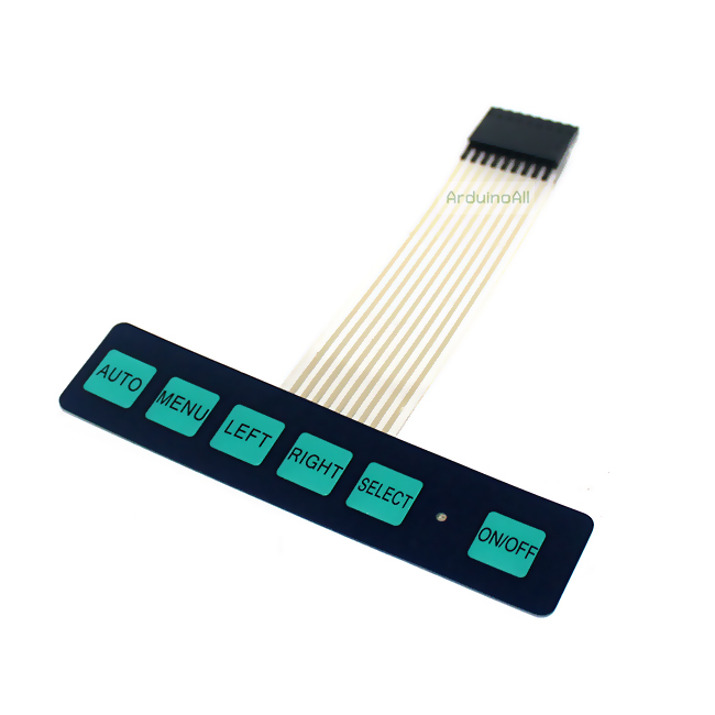 Keypad 6 Key พร้อม LED Membrane Switch Keypad with LED