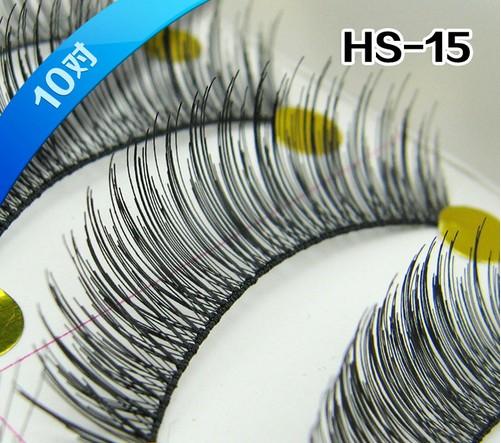 HS-15# ขนตา(ขายปลีก) เเพ็คละ 10 คู่