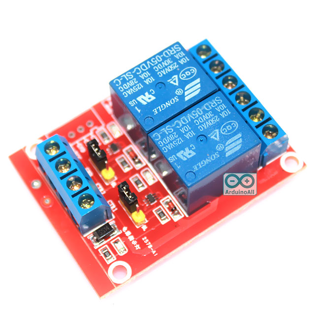 Relay 2 Channel 5V relay Active High/Low Relay Module Shield 250V/10A