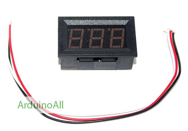 โมดูล ดิจิตอลโวลต์มิเตอร์ 0-99.9 โวลต์ สีแดง Digital DC Voltmeter Mini Digital Voltmeter 0-99.9V Module Red color