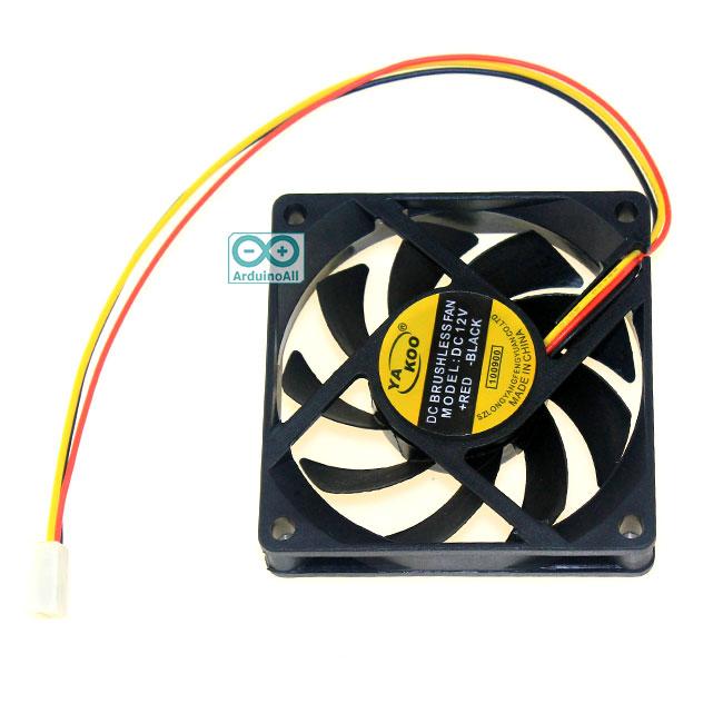 พัดลมระบายความร้อน 3สาย 7x7cm 12V