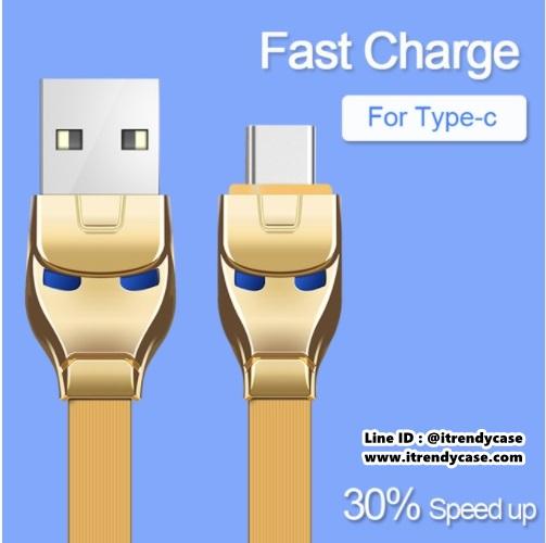 สายชาร์จ HOCO U14 STEEL IRON MAN (USB Type-C / Android) แท้