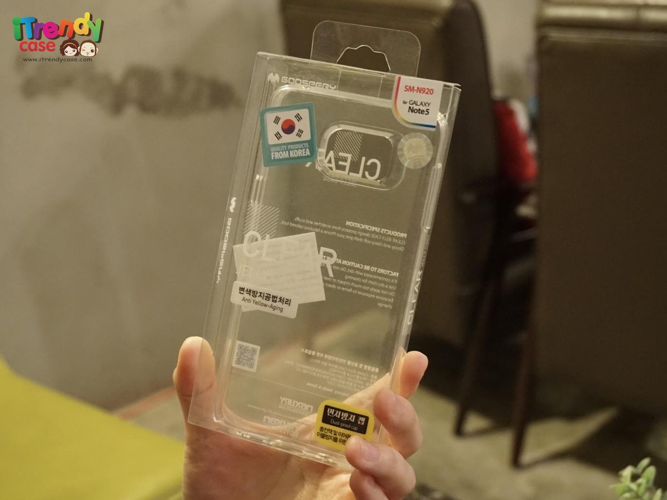 Samsung Galaxy Note5 - เคสใส TPU Clear Mercury Jelly Case แท้