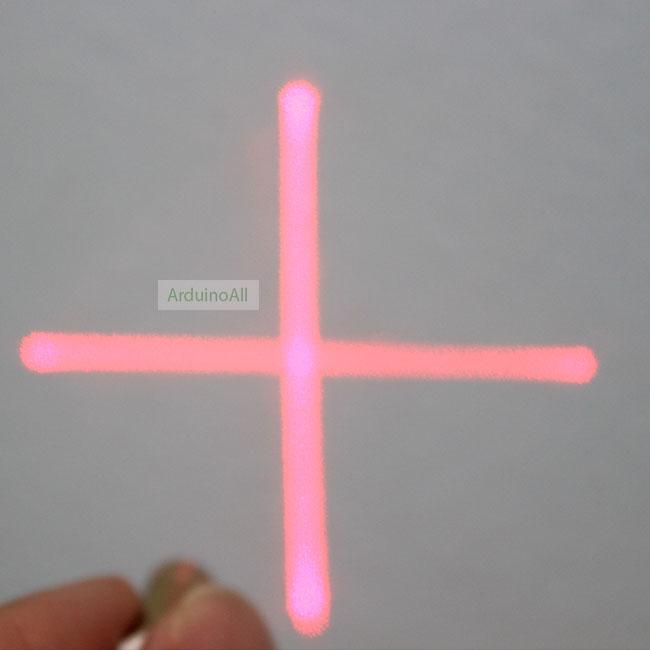 เลเซอร์ 3-5V laser สร้างเส้นบวก เส้นตรงแนวตั้งและแนวนอน แบบเครื่องหมายบวก