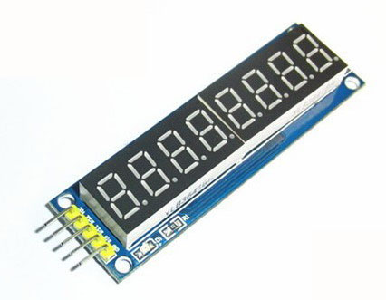 Eight digital tube module LED display Eight serial 595 drivers พร้อมสายไฟ