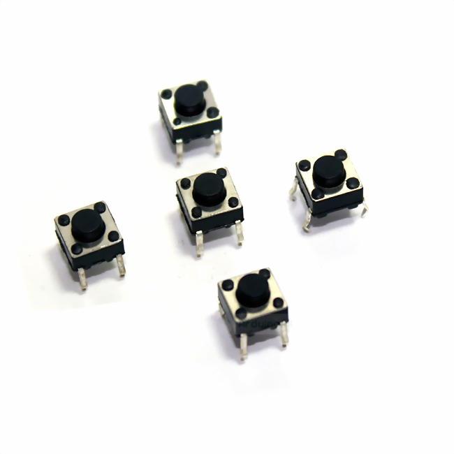 ไมโครสวิตช์กดติดปล่อยดับแบบ 4 ขา micro switch touch switch button switch จำนวน 5 ชิ้น