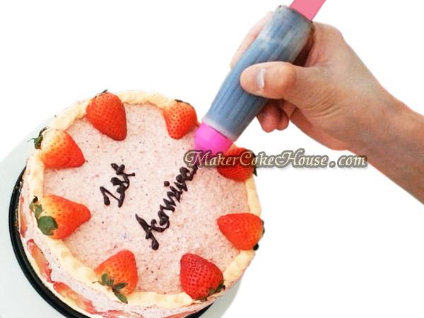 ปากกาซิลิโคนแต่งหน้าเค้ก ขนมปัง ข้าวกล่อง