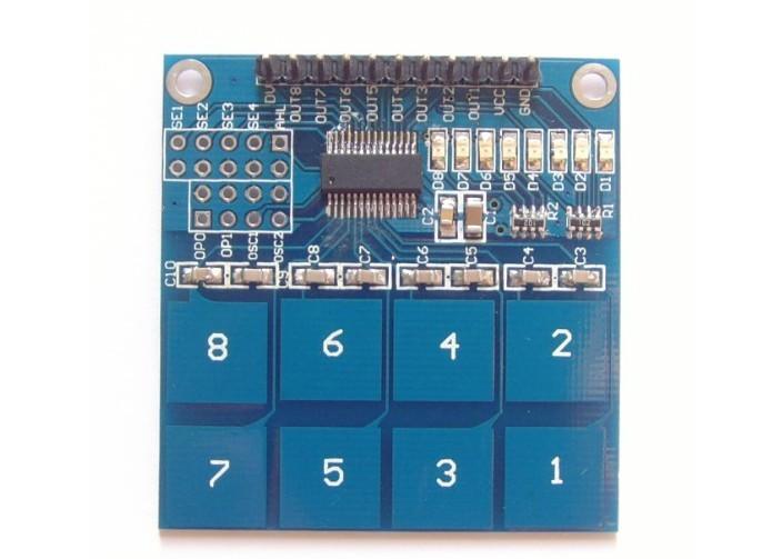 สวิตช์สัมผัส 8 ช่อง 8-way capacitive touch switch