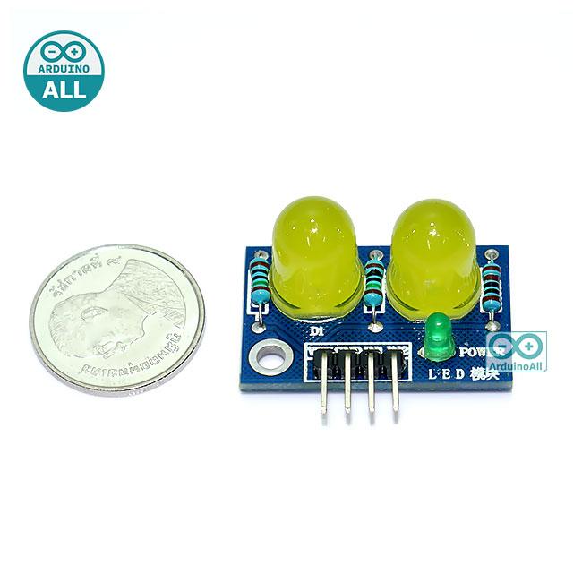 LED Module ไฟแสดงสถานะ 2 ดวง 10mm สีเหลือง