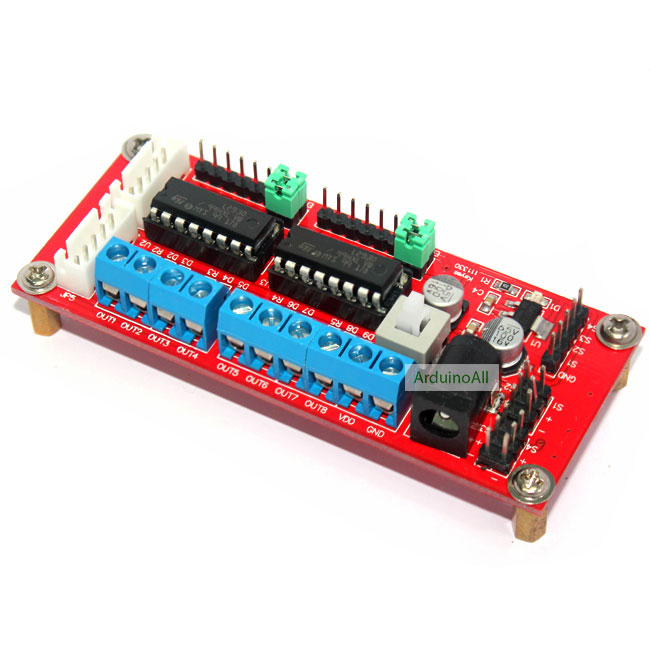 4 DC Motor Drive Module (L293D Module) บอร์ดขับมอเตอร์ 4 ช่อง