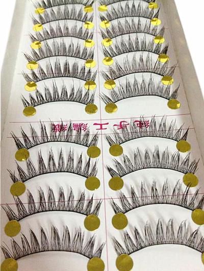 V-067A ขนตาด้ายดำ (ขายปลีก) เเพ็คละ 10 คู่