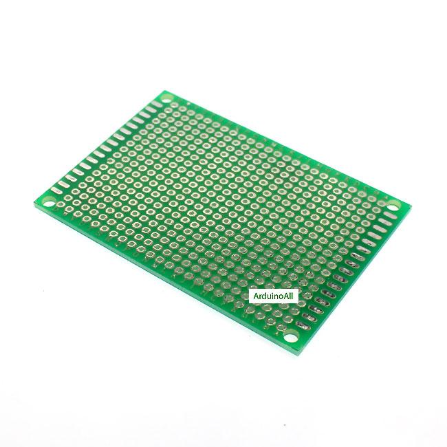 แผ่นปริ๊นอเนกประสงค์ Prototype PCB Board 1 ด้าน 5x7 cm สีเขียว