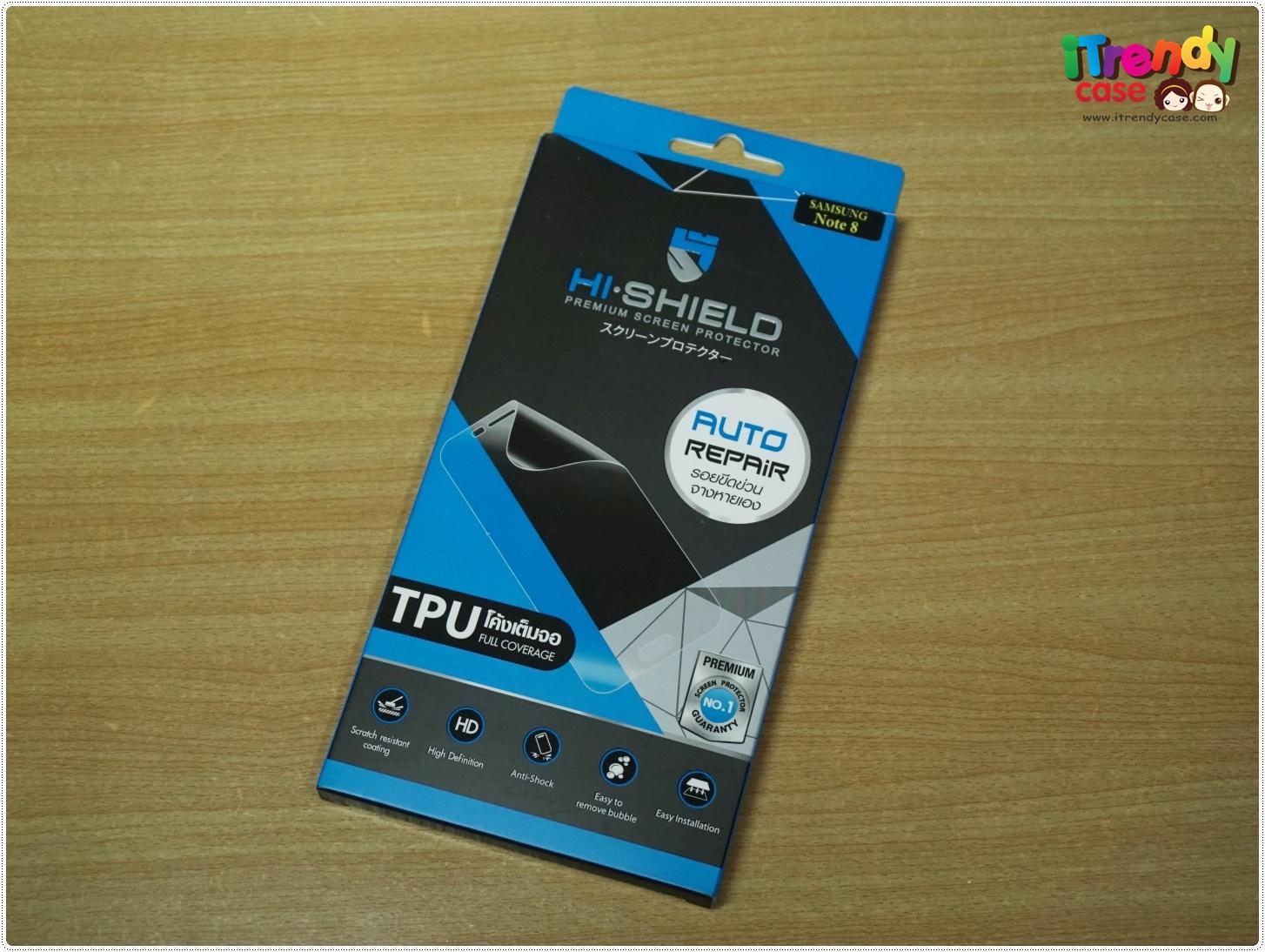 Samsung Note8 (เต็มจอ) - HI-SHIELD ฟิลม์ TPU Auto Repair แท้