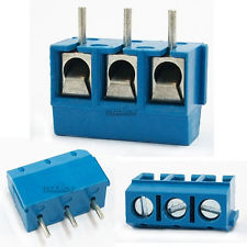 Screw Terminal Block Connector 5mm Pitch 5.08-301-3P 301-3P 3pin จำนวน 2 ชิ้น