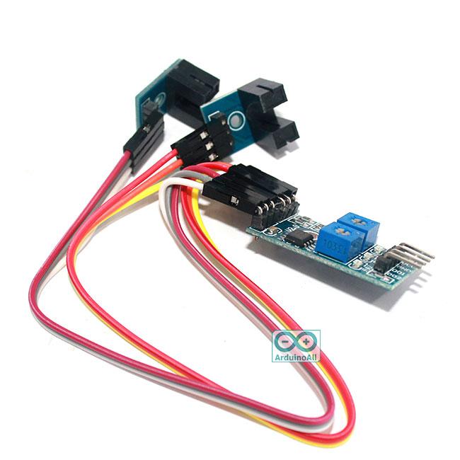 2-way morot speed sensor เซนเซอร์ infrared วัดความเร็วรอบ speed counter สำหรับ Smart Car