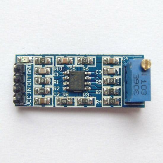 โมดูลขยายสัญญาณ 100 เท่า 100 times LM358 gain signal amplification module operational amplifier LM358 modale module