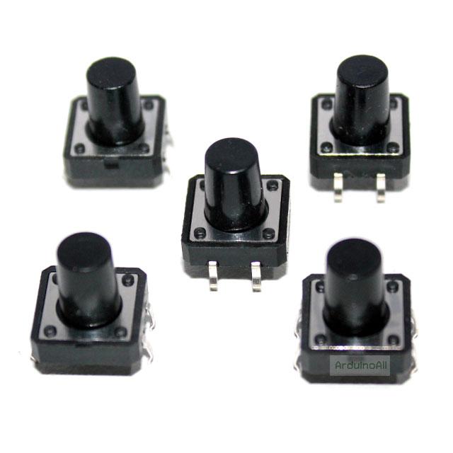 สวิตช์ กดติดปล่อยดับ ขนาด 12x12x12 mm Tact Switch 12X12x12 mm จำนวน 5 ชิ้น