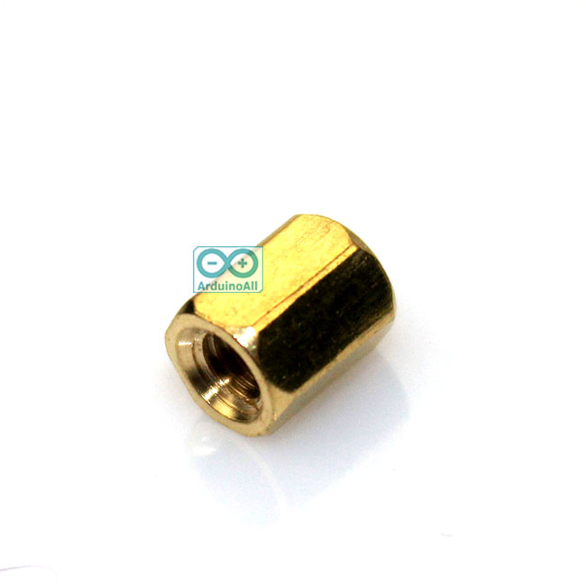 Pillars Nut M3 น็อตตัวเมีย ทองเหลืองแบบยาว 6mm