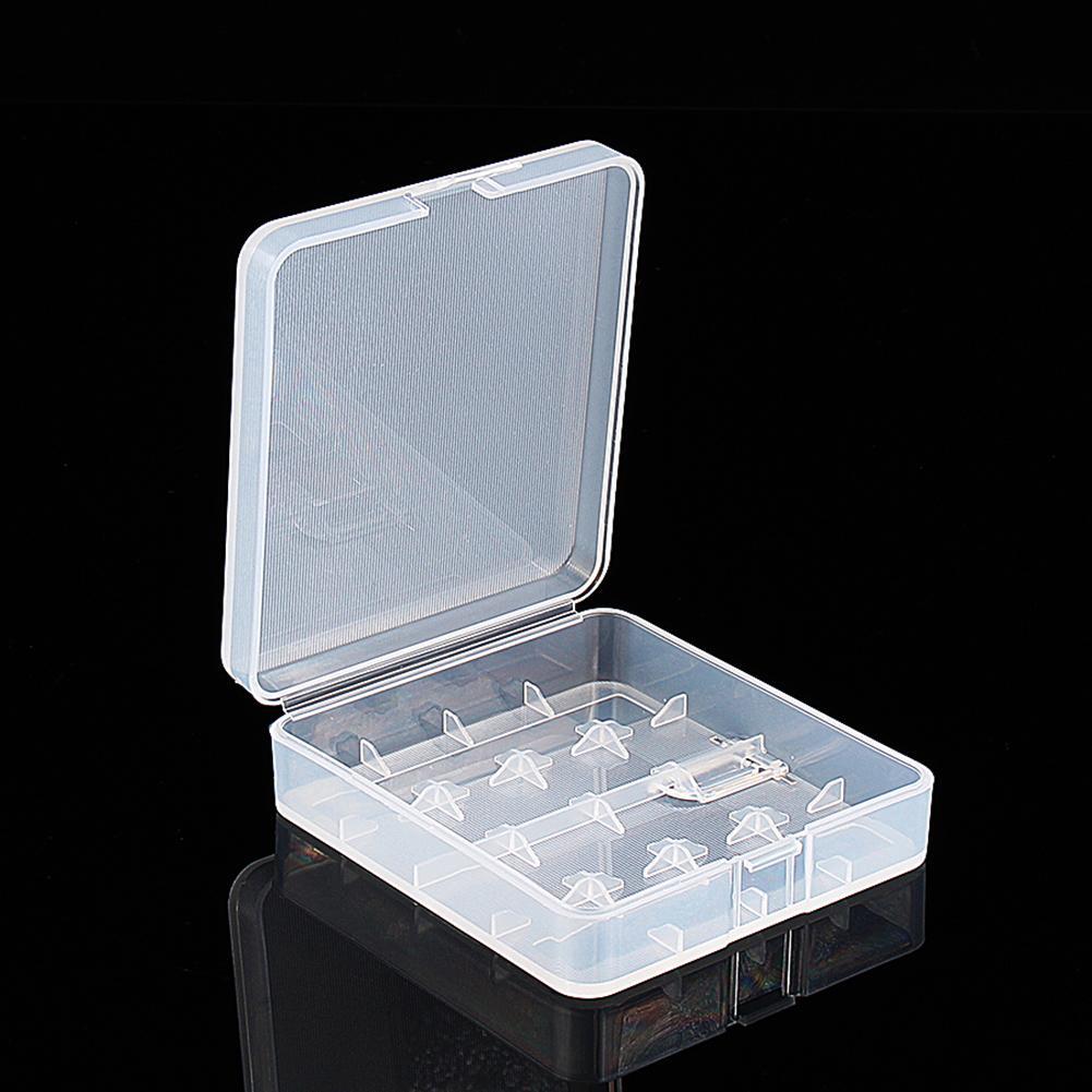 Plastic Transparent White 4x 18650 Battery Case Holder Storage Box กล่องเก็บรักษาแบตเตอร์รี่ 18650 ขนาด 4 ก้อน