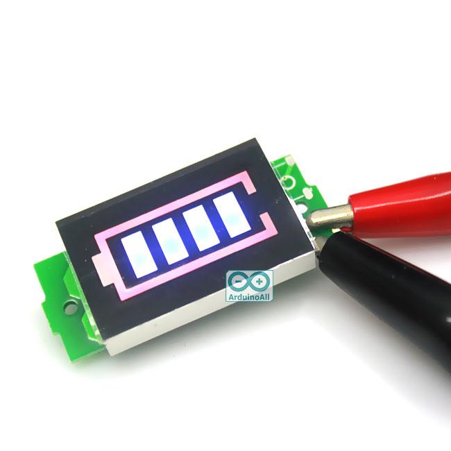 lithium battery power indicator level 3.3-4.2V โมดูล วัดระดับแบตเตอร์รี่ li-ion 3.3-4.2V 4 ระดับ