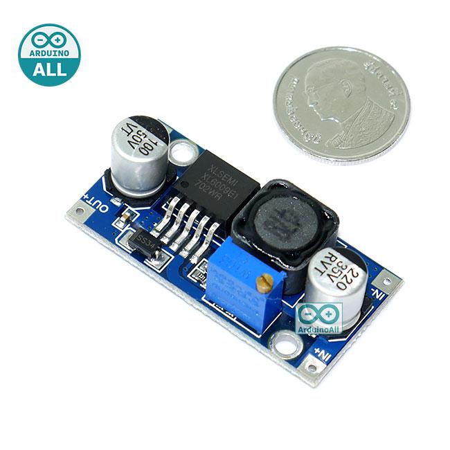 XL6009 DC-to-DC Step up โมดูลแปลงไฟขึ้น จาก 3.2-32V เป็น 5-35V จ่ายกระแสสูงสุด 4A