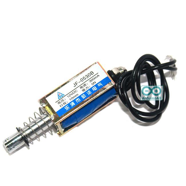 กลอนประตูไฟฟ้า DC electromagnet 12V 1A JF-0530B 12VDC Frame Solenoid Electromagnet