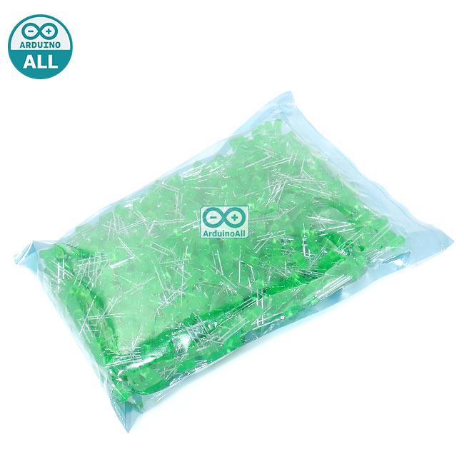 LED 5MM Green ไฟ LED สีเขียวขนาด 5mm จำนวน 1000 ดวง led 1000