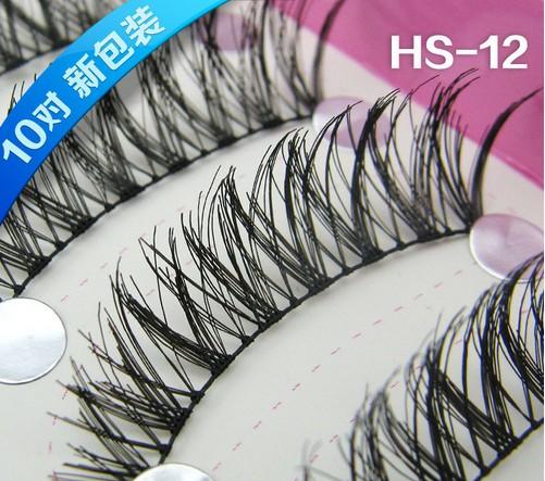 HS-12# ขนตา(ขายปลีก) แพ็คละ 10 คู่