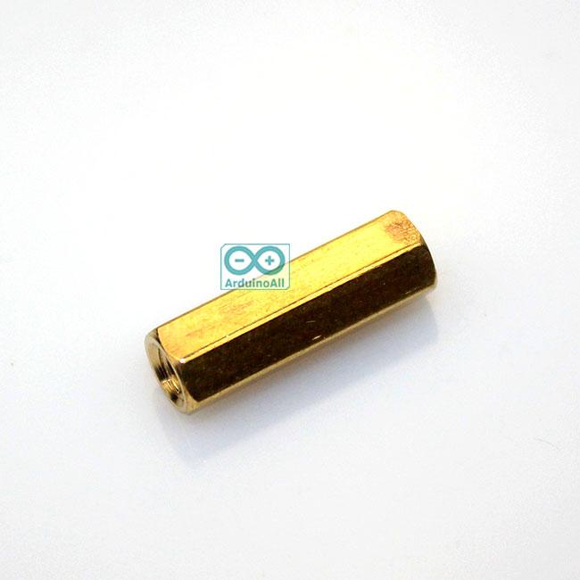 Pillars Nut M3 น็อตตัวเมีย ทองเหลืองแบบยาว 20mm