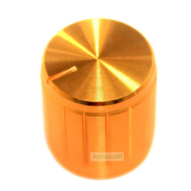 หัวจุกที่หมุนสำหรับตัวต้านทานปรับค่าได้ สีทอง