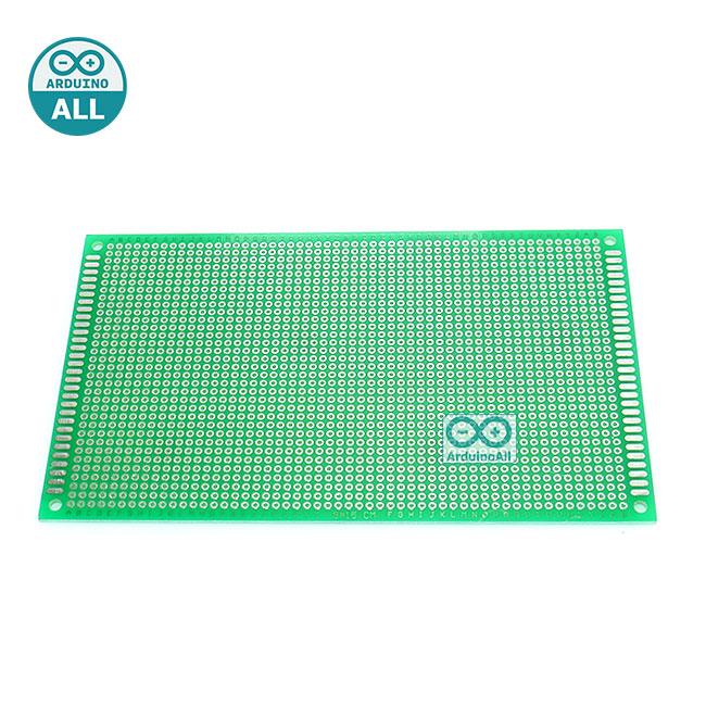 แผ่นปริ๊น PCB อเนกประสงค์แบบ 1 หน้าอย่างดี สีเขียว PCB ขนาด 9x15 เซนติเมตร