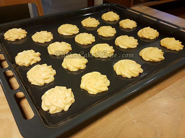 สูตรและวิธีทำเอแคลร์ ไส้คัสตาร์ดทุเรียน 11