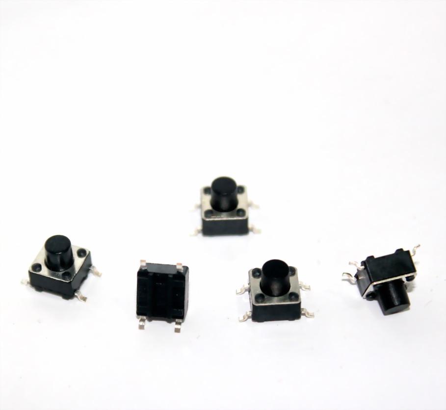 ไมโครสวิตช์กดติดปล่อยดับแบบ บัดกรีติดแผ่นปริ๊นต์ 6 * 6 * 6.5MM micro switch touch switch button switch SMD legs จaนวน 5 ชิ้น