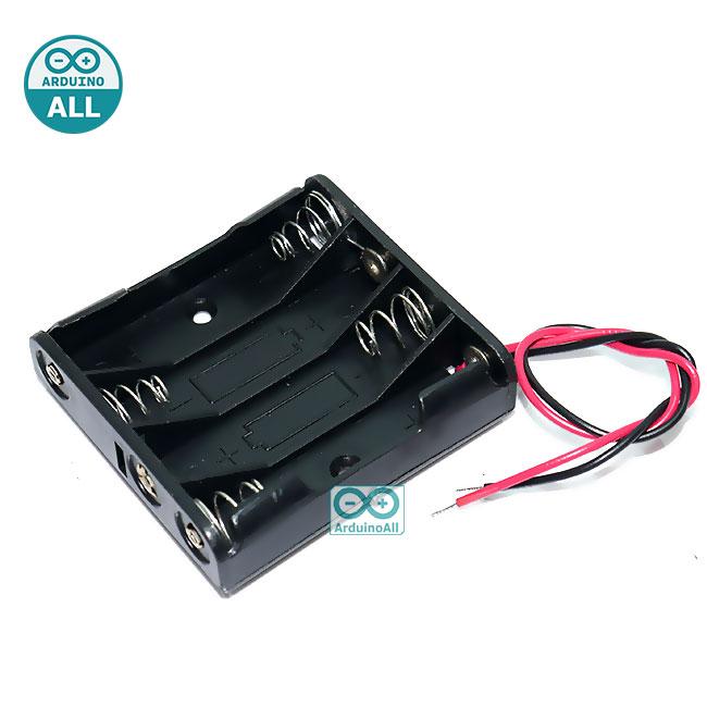 รางถ่าน AAA 4 ก้อน 6V Battery holder case box 4