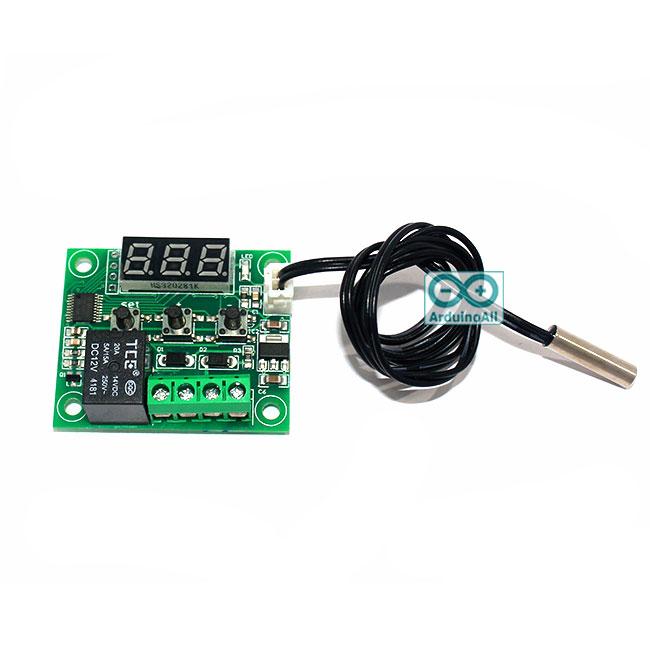 Digital Thermostat Module W1209 บอร์ดควบคุม เปิด/ปิด ตามอุณหภูมิ