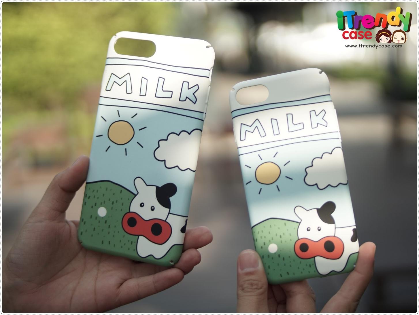 iPhone 7 - เคสปิดขอบ ลายฟาร์มวัว
