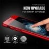 iPhone 7 (เต็มจอ/3D) - สีแดง กระจกนิรภัย P-One FULL FRAME แท้