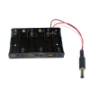 รางถ่าน AA 6 ก้อน 9V พร้อมแจ๊กถ่าน สำหรับ Arduino 6 pcs AA Battery case for arduino