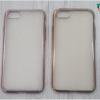 iPhone 7 Plus - เคสใสขอบสีเมทัลลิก TPU
