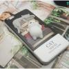 iPhone 6, 6s - เคส TPU หลังนุ่มนิ่ม 3D ลายแมวขาว กองหนังสือ
