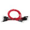 สายไฟจัมเปอร์ 20cm แบบเดียว ผู้-ผู้ สีแดง จำนวน 10 เส้น