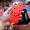 iPhone 5 / 5s - เคสซิลิโคน แบบนิ่ม ลาย ไอติม MOSCHINO (สีแดง)