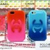 iPhone 5 / 5s - เคสกระเป๋า Chanel ทรงครัชล์ (ชมพู+แดง)