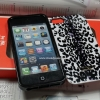 iPhone 5 / 5s / SE - เคสแข็ง ลาย COACH CASE (ลายเสือขาวดำ)