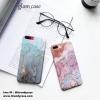iPhone 7 - เคสแข็งปิดขอบ ลายหินอ่อน (สีฟ้า,สีน้ำตาล)