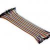 สายจัม ผู้-เมีย Jump Wire (Male to Female) สายแพ ยาว 20cm. ขนาด40 เส้น