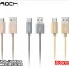 สายชาร์จ สั้น ROCK C2 Metal Cable 300mm (USB Type-C / Android) แท้