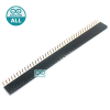 1x40 Pin 2.54mm Pin 90 degree Female Pin Header Connector