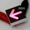 """LED ลูกศร 0.8"""" ขนาด 22x22mm สีแดง"""