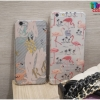 iPhone 6 Plus, 6s Plus - เคสใส TPU ลายนกฟลามิงโก้ Flamingos